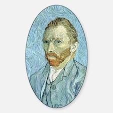 Self portrait, 1889 by Vincent Van  Sticker (Oval)