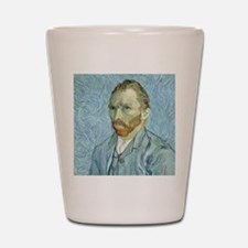 Self portrait, 1889 by Vincent Van Gogh Shot Glass