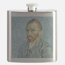 Self portrait, 1889 by Vincent Van Gogh Flask