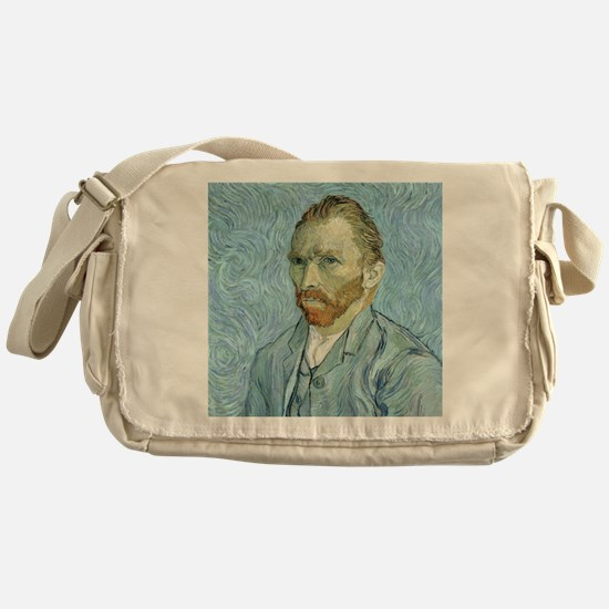 Self portrait, 1889 by Vincent Van G Messenger Bag