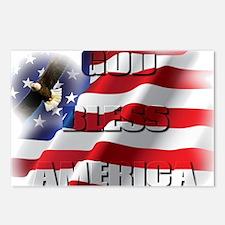 Patriotic God Bless America Soaring Eagle Postcard