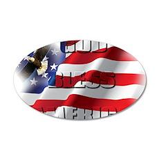 Patriotic God Bless America Soaring Eagle Wall Dec