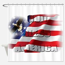 Patriotic God Bless America Soaring Eagle Shower C