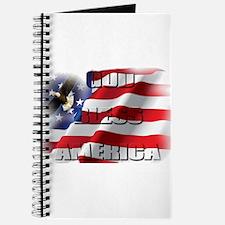 Patriotic God Bless America Soaring Eagle Journal