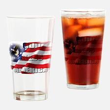 Patriotic God Bless America Soaring Eagle Drinking