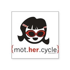 mot.HER.cycle Rectangle Sticker