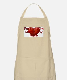 Not With Stupid BBQ Apron