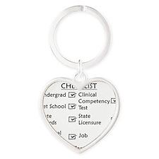 vetchecklistblackusenew Heart Keychain