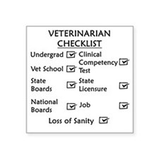 "vetchecklistblackusenew Square Sticker 3"" x 3"""