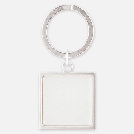 vetchecklistwhiteusenew Square Keychain