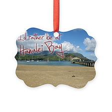 PostcardHanaleiBay Ornament