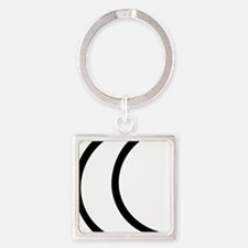 moon_outline Square Keychain