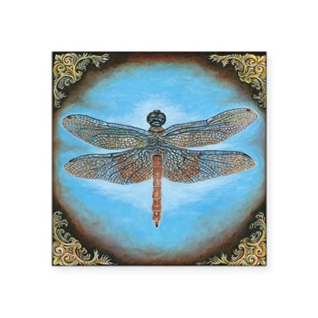 "Dragon fly Square Sticker 3"" x 3"""