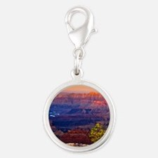 Grand Canyon Sunset Silver Round Charm