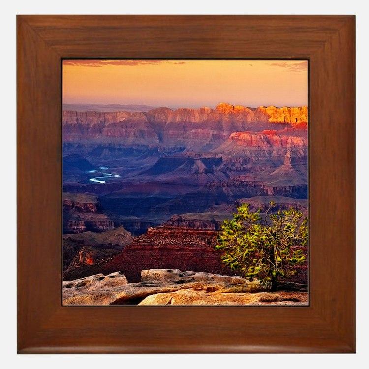 Grand Canyon Sunset Framed Tile