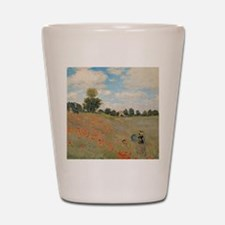Wild Poppies, near Argenteuil by Claude Shot Glass