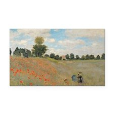 Wild Poppies, near Argenteuil Rectangle Car Magnet