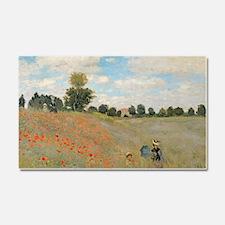 Wild Poppies, near Argenteuil b Car Magnet 20 x 12