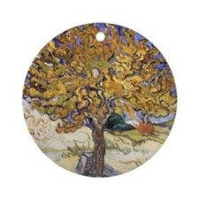 Mulberry Tree, 1889 by Vincent Van  Round Ornament