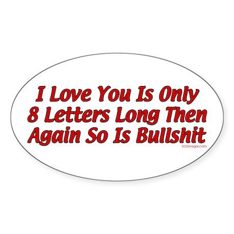 8 Letters Oval Sticker