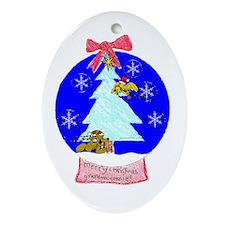 Merry Xmas GmaConnie2010copy Oval Ornament