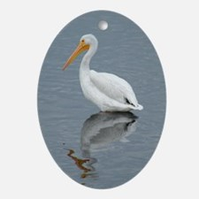 The Pelican King 1 Oval Ornament