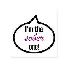 "Im_the_sober Square Sticker 3"" x 3"""