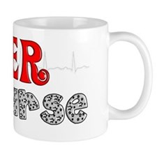 ER NURSE RED BLACK QRS Mug