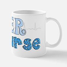 ER Nurse QRS BLUE Mug