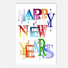 Happy New Years Trans Postcards (Package of 8)