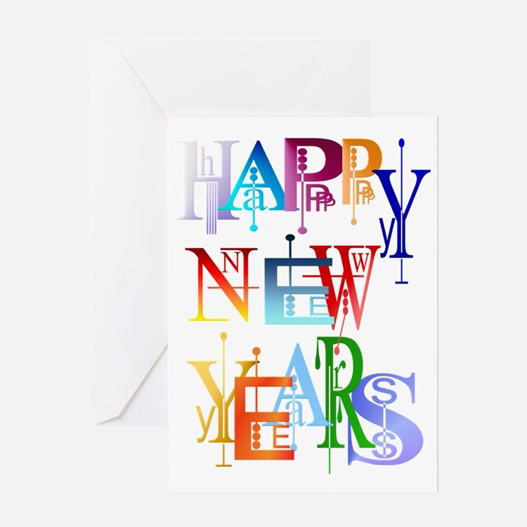 Happy New Years Trans Greeting Card