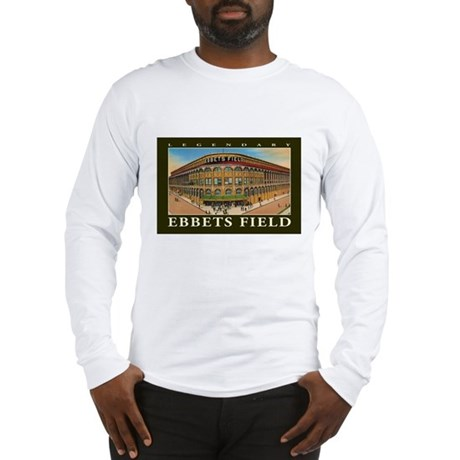 Ebbets Field T Shirt Art Long Sleeve T-Shirt