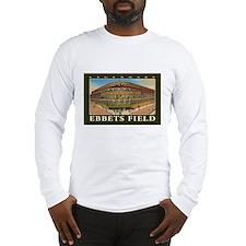 Ebbets Field T Shirt Art Long Sleeve T-Shirt