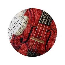 """Zapp-red-violin-closeup 3.5"""" Button"""