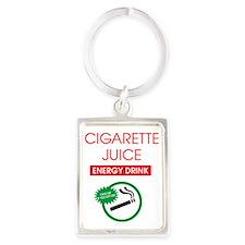 Cigarette Juice Portrait Keychain