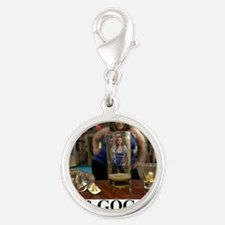 BEER GOGLES1 Silver Round Charm