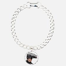 Jordan-Head- Charm Bracelet, One Charm