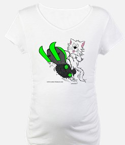 Snowmobile Cat in Color Green Shirt