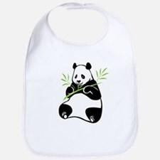 Panda with Bamboo Bib