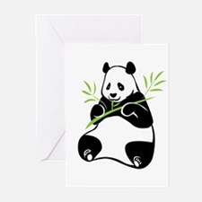 Panda with Bamboo Greeting Cards