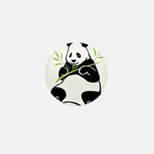 Panda with Bamboo Mini Button