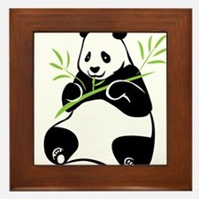 Panda with Bamboo Framed Tile