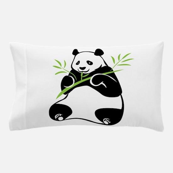 Panda with Bamboo Pillow Case