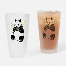 Panda with Bamboo Drinking Glass