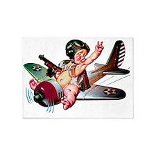 NEW_Baby Pilot-x 5'x7'Area Rug