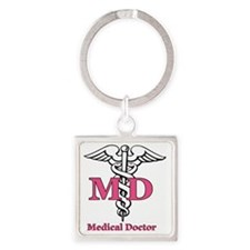 MD2 Square Keychain