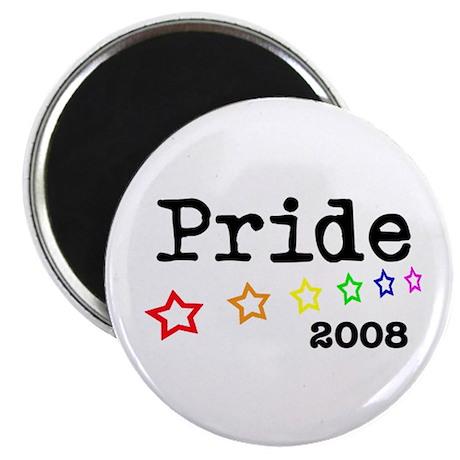 """Pride 2008 2.25"""" Magnet (10 pack)"""