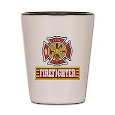firefighter Sq Shot Glass