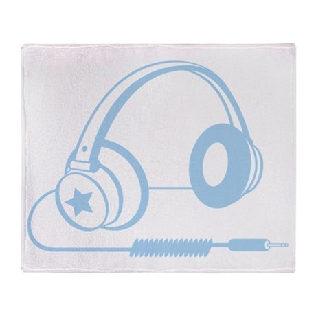 X399A_Hdphns_LtBlue Throw Blanket