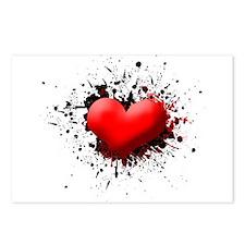 Heart Splat Postcards (Package of 8)